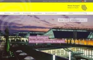 Neue Internetpräsenz Messe Stuttgart