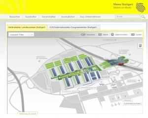 Geländeplan Messe Stuttgart