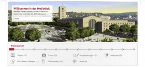 Durch die multimediale Aufbereitung in der Mediathek wird das Bauprojekt für den Nutzer lebendig und interaktiv erlebbar.